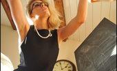 Full Bush Art Teacher Foxes.com Katy Cee Hot Teacher with Glasses with Blonde Hairy Pussy