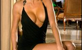 Short Boobie Dress Foxes.com Brandie Moses Nice Nipples Blonde in Black Dress n Tanlines
