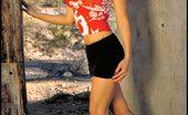 Little Tight Skirt Foxes.com Kristen Muranaga 122071 Large Breasts Asian in Short Skirt