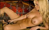 Naughty Too Foxes.com Claudia Costa Blonde Babe in Black Sexy Lingerie