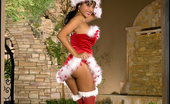 Santa Wears Stockings Foxes.com Priya Rai Indian Santa Wears Red Stockings Xmas Costume