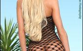 Tits too Big Foxes.com Danielle Derek Biggest Tits Ever in Fishnet Poolside Tan Lines