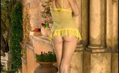 Out Front Naked Foxes.com Jamie Lynn Hottie in Yellow See Thru Negligee