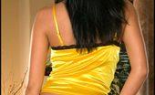Panties Foxes.com Kimberley Rogers Yellow Lingerie n High Heels