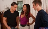 Seduced By A Cougar Ariella Ferrera Busty blonde cougar Ariella Ferrera gets double penetrated by two big cocks at the same time.