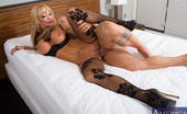 Seduced By A Cougar Houston 122893 Hot blonde cougar gets her new bed and new cock in her tight pussy on her new bed.