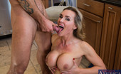 Seduced By A Cougar Tanya Tate Busty blonde cougar fucks worker in the kitchen.