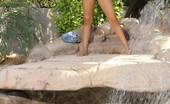 Priya Anjali Rai Sexy Busty Indian, Priya , Puts On A Sexy Outdoor Striptease Peeling Off Her Tiny Denim Shorts And Halter Top!