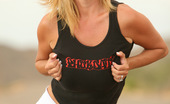 """Rachel Aziani Naughty In Nature I Was Driving On This Lonely AZ Highway And Found The Perfect Opportunity To Strip Out Of My Short Shorts And Tank Top. I Was Super Careful To Watch For Cars, However I Did Get Caught Up """"In The Moment."""".."""