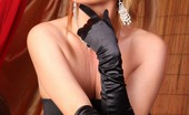 Rachel Aziani  Busty Blonde Babe, , Looks Stunning In Her Long Black Dress And Gloves! She Loves Flashing Her Beautiful Boobs And Sweet Shaved Pussy!
