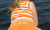 Little April Teenage Girl Playing With Her Private Parts On A Lake