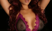 Alluring Vixens Melanie Elyza Melanie Elyza Shows Off Her Perfect Breasts In A Little Mesh Outfit