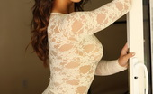 Alluring Vixens Amanda Marie Sexy Vixen Amanda Marie Shows Off In A Tight Lace Semi-Sheer Body Suit