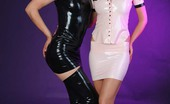 Strapon Cum 125636 Threesome With Two Strapons And Lots Of Latex!