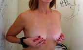 Gloryhole.com Tabitha Blond Interracial Gloryhole Cumeating Blowjob