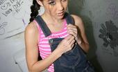 Gloryhole.com Amai Liu Asian Teen Gives Interracial Gloryhole Blowjob
