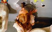 Gloryhole.com Sally Redhead Slut Sucks Off Black Dick In Gloryhole