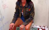 Gloryhole.com Brook Brunette Sucks Off Black Dick In Pornshop Gloryhole