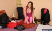 Housewife 1 On 1 Melanie Hicks Busty Hot Housewife In Pink Spandex Is Horny While Packing And Decides To Suck And Fuck Her Husbands Big Cock.