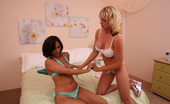 Her First Lesbian Sex Reena Sky & Sindy Lange Hi Def Curious Cutie Reena Had Never Been With Another Girl Before, So Sly Sindy Started With A Slow, Wet Make Out Session Before Slipping A Few Fingers Between Reena'S Moist Pussy Lips And Getting The New Girl Slit All Sloppy For The HUGE Strap-On That Was Comi