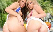 Her First Lesbian Sex Kenzi Marie & Jennifer Dark Jennifer Couldn'T Wait To Get A Piece Of Kenzi - Hell, She Started To Rim Her Hot Blond Gal Pal Before We Even Got Them Indoors! The Girls Just Got Dirtier From There, Pounding Each Other With Dildos And Talking Dirty Non-Stop For The Rest Of The Scene.