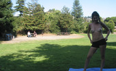 Public Flash Nude Yoga In A Public Park