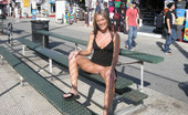 Public Flash Fit And Hot Chick Exposes Naughty Bits In Public