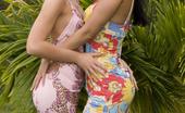 Private.com Belicia & Veronica Da Souze Belicia Veronica Da Souze Two Amazing Asses Hunging Around In Garden