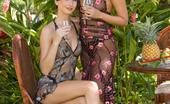Private.com Veronica Da Souze & Thalia Veronica Da Souze Thalia Two Beautiful Retro Chicks Touch Each Other