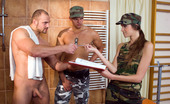 Private.com Silvie Deluxe 138481 Bisexual Army Fantasy Military Woman Fucks Two Soldiers In The Bath