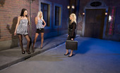 Private.com Antonia & Blond Cat & Adele Street Naughty Lesbians 3 Hot Chicks Playing With Toys In The Street