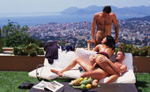 Private.com Adrienne Klass 2 Dicks For One Chick In Cannes Amazing Brunette In Hot Threesome In The Sun