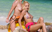 Private.com Justine Ashley Kathy Anderson Wild Sex On The Beach Wild Sex On The Beach With Hot Blond And Man