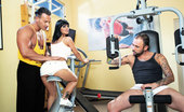 Private.com Black Angelika Super Hot Chick Gets Fucked In The Gym Hot Babe Gets Fucked By Two Guys In The Gym