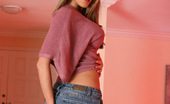 Aziani Moni'S Jeans Skirt Goes Up And She Reveals Her Flawless Butt. Hmmm...That Ass Needs Some Tappin' And Slappin'