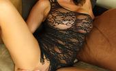 Aziani Nikki Jackson Is Super Hot In Her Black Lace Mini Dress!