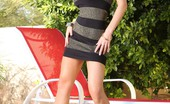 Aziani Nikki Benz Looks So Sexy Posing In Her Tight Little Dress That You Will Be On The Edge Of Your Seat Waiting For Her To Take It Off!