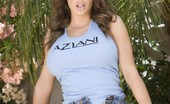 Aziani Busty Brunette Pornstar, Jenna Presley, Flashes Her Big Beautiful Boobs And Her Sweet Shaved Pussy From Under Her Tiny Denim Skirt!