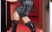 Aziani Gorgeous Busty Indian Pornstar, Priya Anjali Rai, Shows Off Her Naughty Side Posing In Her Corset, Thigh High Stockings And Thigh High Black Patent Boots!