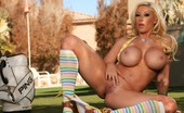 Aziani 140395 Candy Manson Looks Delicious In Her Little Bikini And Socks Outside. She Sets Those Voluptuous Boobies Free And The Result Is Jaw Dropping.