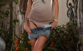 Aziani Busty Beauty, Monique Alexander, Is Sizzling Posing Outside In Her Girl Next Door Shirt And Mini Skirt. She Look Scrumptious And She Strips Down To Nothing!