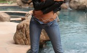 Aziani Sexy Petite And Oh So Hot Prinzzess Strips From Her Leather Jacket And Jeans.
