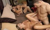 Mature.nl Three Horny Mature Sluts Take On One Strapping Lad