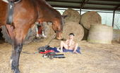 Mature.nl Mature Slut Playing With Herself In A Barn