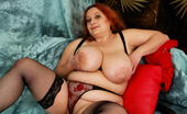 Mature.nl Huge Breasted Mama Playing With Herself