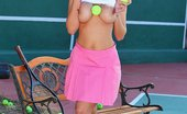 Big Tits In Sports Yurizan Beltran Playing With My Tennis Balls Everyday, Yurizan Practices Tennis. When She Started, She Wasn'T Too Good, But These Days, She'S Loo...