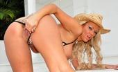 Lucy Zara Horny Blonde Milf Is Getting Very Hot And Sweaty In The Sizzling Sun Wearing A Skimpy Bikini
