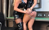 Lucy Zara Gets To Grips With The Very Sexy Kandi Again, This Time Their Playing The PVC Domme Queens With A Real Lesbian Fetish