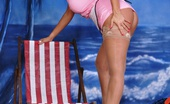 Lucy Zara Last Days Of Her Beach Holiday And Is On The Beach Dressed As A Hot Waitress