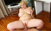 Young Fatties Fat Blondie Rides Cock And Gets Her Titties Jizzed